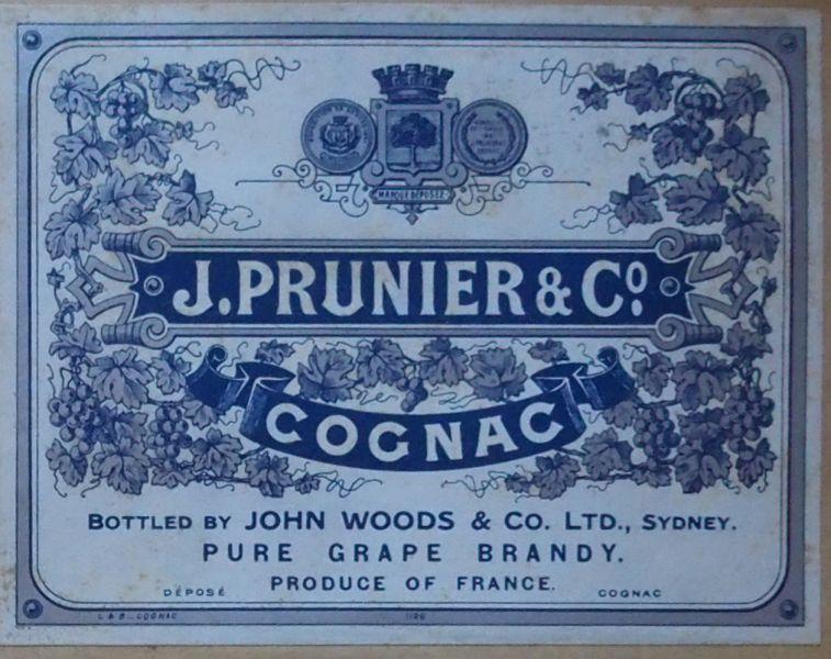 old-label-cognac-prunier-melbourne