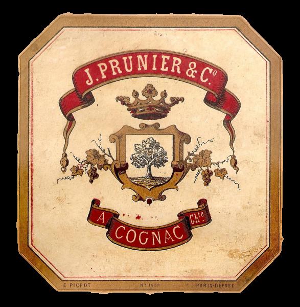 vieille étiquette cognac